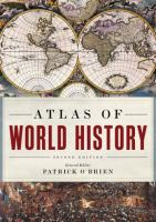 Cover image for Atlas of world history