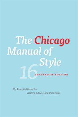 Cover image for The Chicago manual of style.