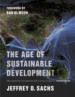 Cover image for The age of sustainable development