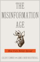 Cover image for The misinformation age : how false beliefs spread