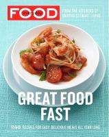 Cover image for Everyday food : great food fast