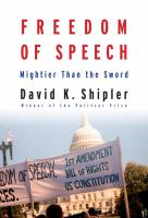 Cover image for Freedom of speech : mightier than the sword