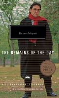 Cover image for The remains of the day