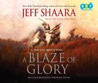 Cover image for A blaze of glory : a novel of the Battle of Shiloh