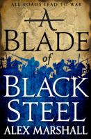 Cover image for A blade of black steel
