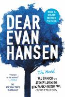 Cover image for Dear Evan Hansen : the novel