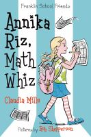 Cover image for Annika Riz, math whiz