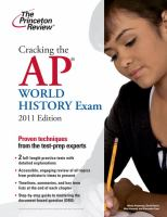 Cover image for Cracking the AP world history exam