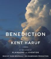Cover image for Benediction a novel