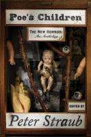 Cover image for Poe's children : the new horror : an anthology