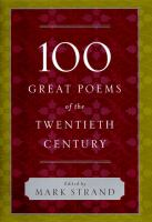 Cover image for 100 great poems of the twentieth century