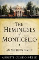 Cover image for The Hemingses of Monticello : an American family