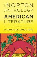 Cover image for The Norton anthology of American literature