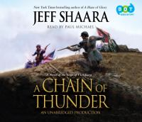 Cover image for A chain of thunder : a novel of the siege of Vicksburg