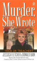 Cover image for Trick or treachery : a Murder, She Wrote mystery