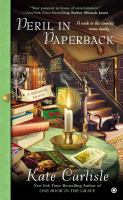 Cover image for Peril in paperback : a bibliophile mystery