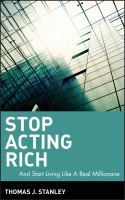 Cover image for Stop acting rich : --and start living like a real millionaire