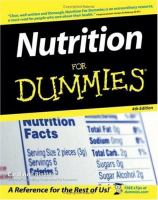 Cover image for Nutrition for dummies