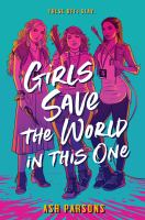Cover image for Girls save the world in this one