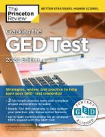 Cover image for Cracking the GED test