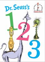 Cover image for Dr. Seuss's 1 2 3.