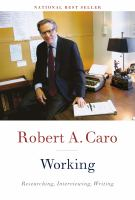 Cover image for Working : researching, interviewing, writing