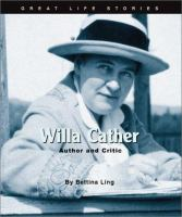Cover image for Willa Cather : author and critic