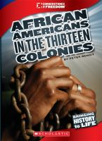 Cover image for African Americans in the thirteen colonies