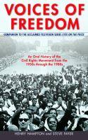 Cover image for Voices of freedom : an oral history of the civil rights movement from the 1950s through the 1980s