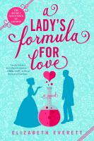 Cover image for A lady's formula for love : a novel