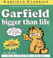Cover image for Garfield bigger than life