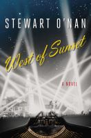 Cover image for West of sunset : a novel
