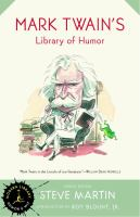 Cover image for Mark Twain's library of humor