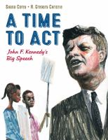 Cover image for A time to act : John F. Kennedy's big speech