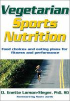 Cover image for Vegetarian sports nutrition