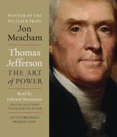 Cover image for Thomas Jefferson the art of power