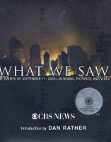 Cover image for What we saw
