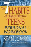 Cover image for The 7 habits of highly effective teens personal workbook