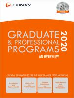 Cover image for Peterson's graduate & professional programs 2020.
