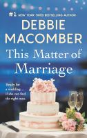 Cover image for This matter of marriage