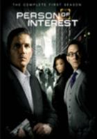 Cover image for Person of interest. The complete first season