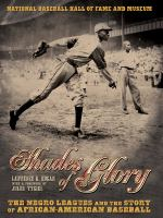 Cover image for Shades of glory : the negro leagues and the story of African-American baseball