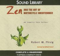 Cover image for Zen and the art of motorcycle maintenance an inquiry into values