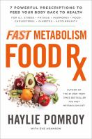 Cover image for Fast metabolism food Rx : 7 powerful prescriptions to feed your body back to health
