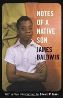 Cover image for Notes of a native son