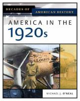 Cover image for America in the 1920s