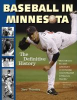 Cover image for Baseball in Minnesota : the definitive history