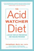 Cover image for The acid watcher diet : a 28-day reflux prevention and healing program