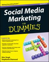 Cover image for Social media marketing for dummies