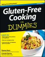 Cover image for Gluten-free cooking for dummies